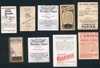 1920 -1950s instant collection 9 rugby trade cards rare types MacRobertson Felsinea Allens Jasmatzi
